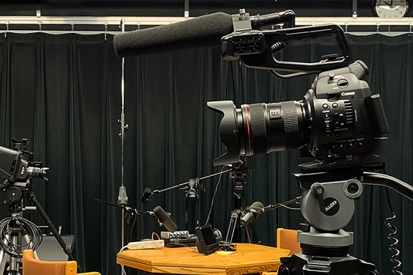 368 studio with professional camera